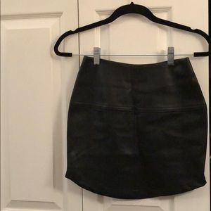 Lulus leather mini skirt